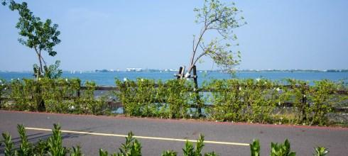 Pingtung|屏東‧東港|來大鵬灣走走,時間到還能看跨海大橋開橋,現在只有每週六開一次喔!