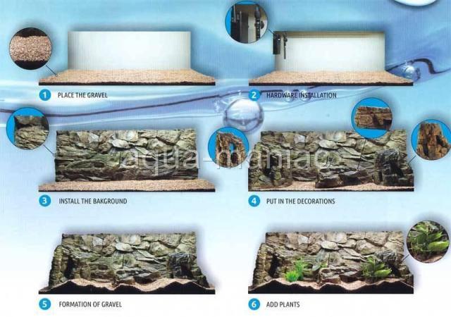 background 3 6cm aquarium type tropical narrow tank discus background