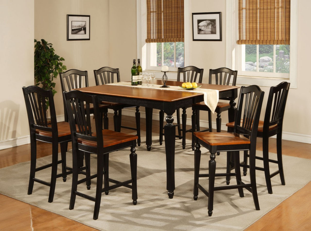 high dining table sets high kitchen table sets Round Glass Kitchen Table Sets Decoration Ideas High