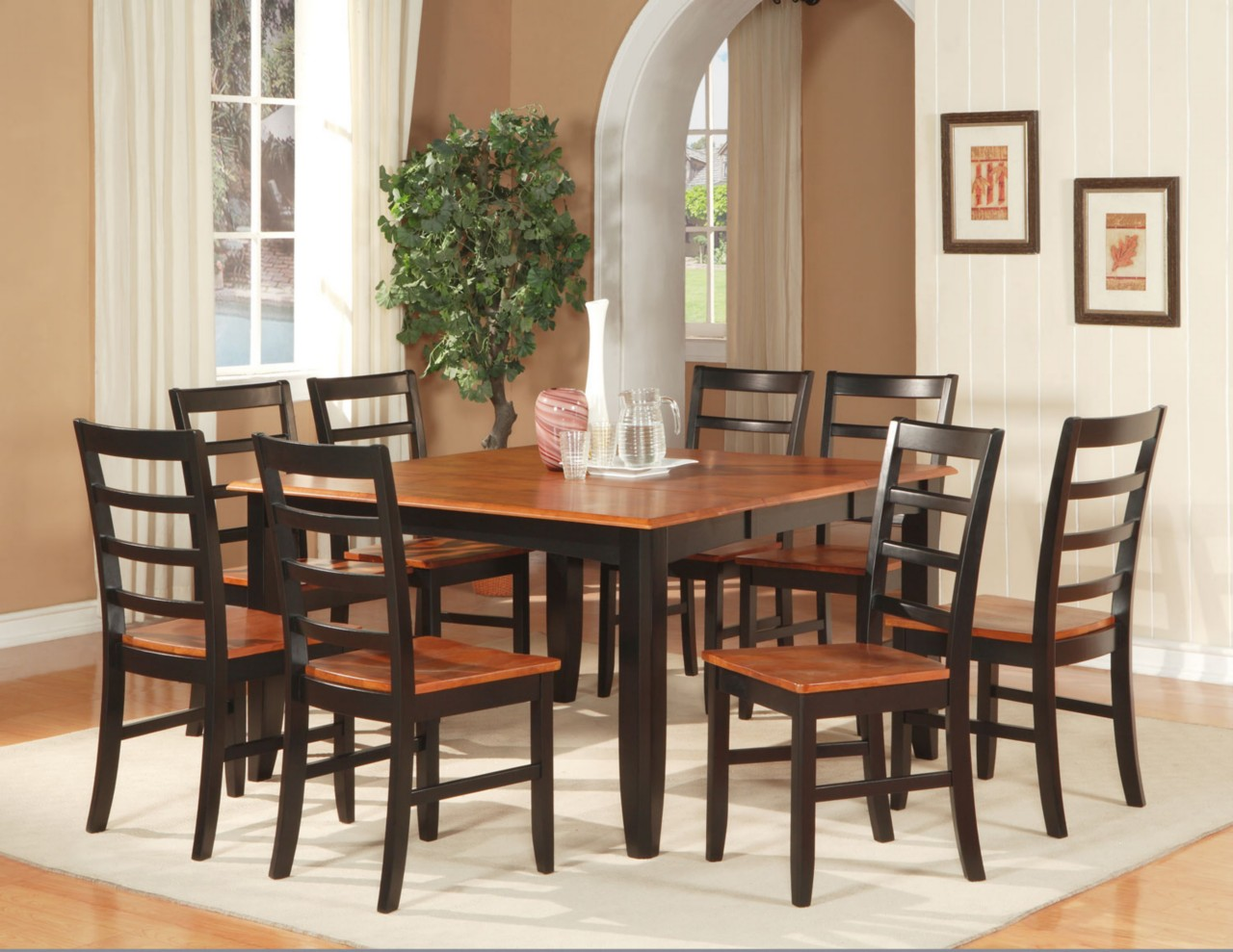 dining room table for 8 square kitchen tables Larger Dining Tables