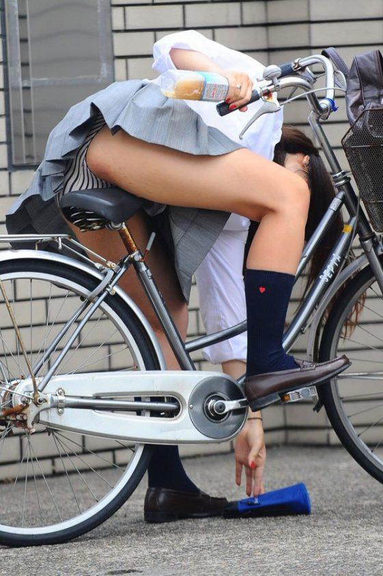 登下校中の自転車中にチラリズム的に見えるパンツがやべぇなwwwww