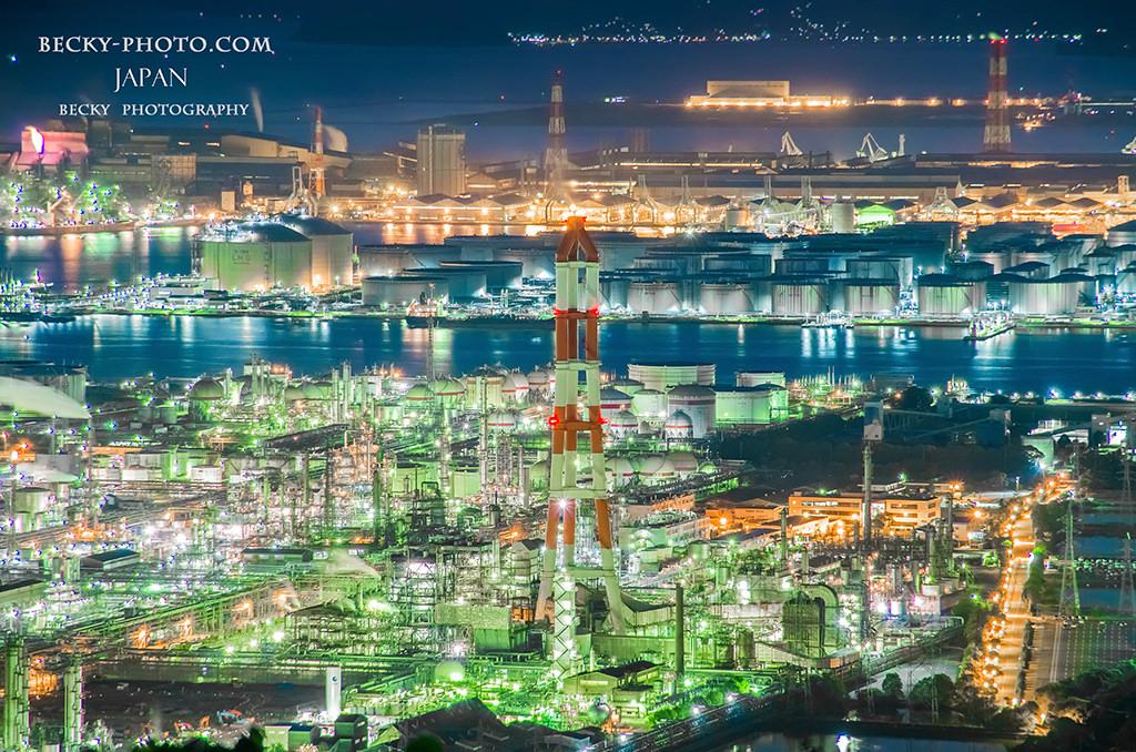 已入選為日本夜景100選『水島展望台』& 夕陽百選『鷲羽山展望台』