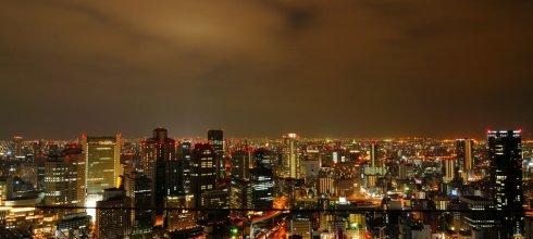 【大阪】。360°視野空中庭園展望台~梅田 夜