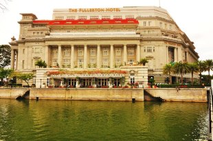 【新加坡】。搭乘MRT遊走在新加坡 - 簡易版路線 Part.1 │ The Fullerton Hotel。新加坡亞洲文明博物館。新加坡濱海區