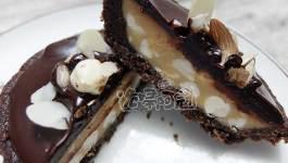 自製無麵粉巧克力塔皮、咖啡塔皮(chocolate、coffee and matcha tart)