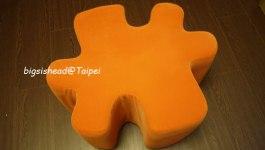 ●居家布置●阿母!這個給你坐可以嗎?–巧巧Ⅲ拼圖腳凳-橘(Sponsored by B&Q)