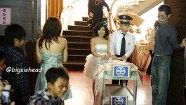 。喜喜來了。台南婚宴–懷舊鐵道風之第三次進場