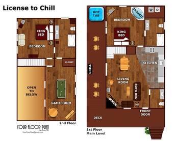 Floor Plan at License to Chill in Shagbark TN