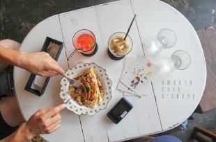 [沖繩] 藏在國際通巷弄內的花草咖啡廳,sweets cafe O'CREPE