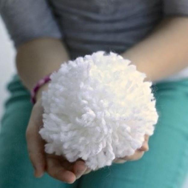 A Basket of Indoor Snowballs
