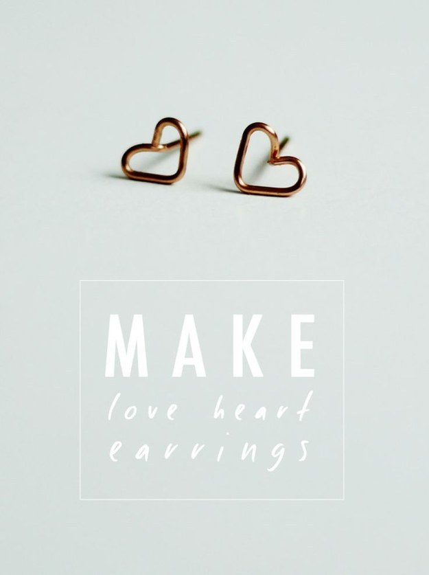 Tiny Wire Heart Earrings