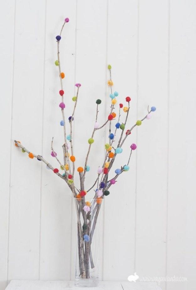 A Pom-Pom Branch Bouquet