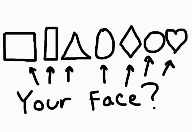 Hay 7 maneras basicas de caras humanas: cuadrada, rectangular, triangular, ovalada, diamante, redonda, y corazón.