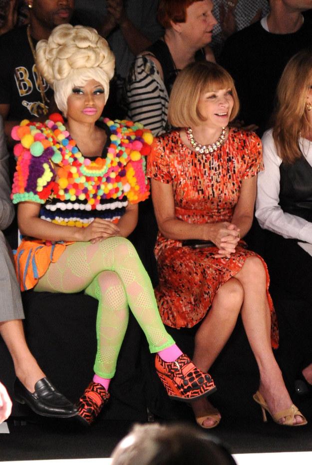 Nicki Minaj wore this. And somehow Anna Wintour was OK with it.