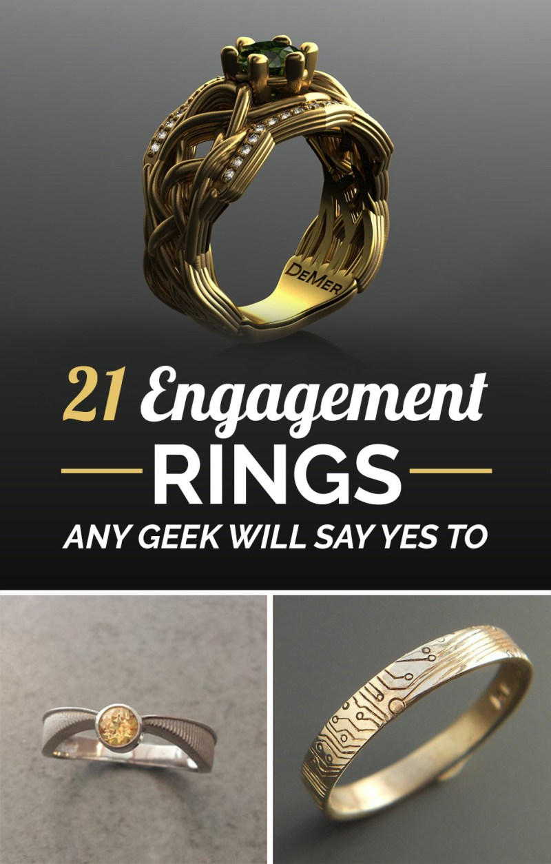 Large Of Nerdy Engagement Rings