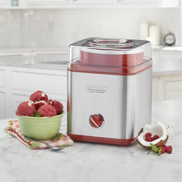 A Cuisinart 2-quart sorbet and ice cream maker for making desserts as cookie-filled or special diet–friendly as your heart desires.