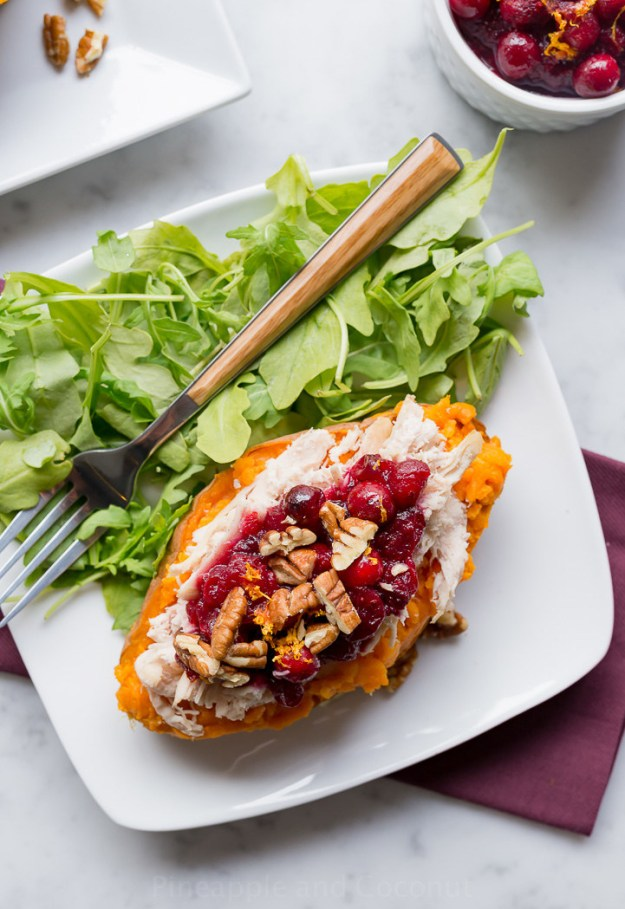 Roast Turkey Stuffed Sweet Potatoes