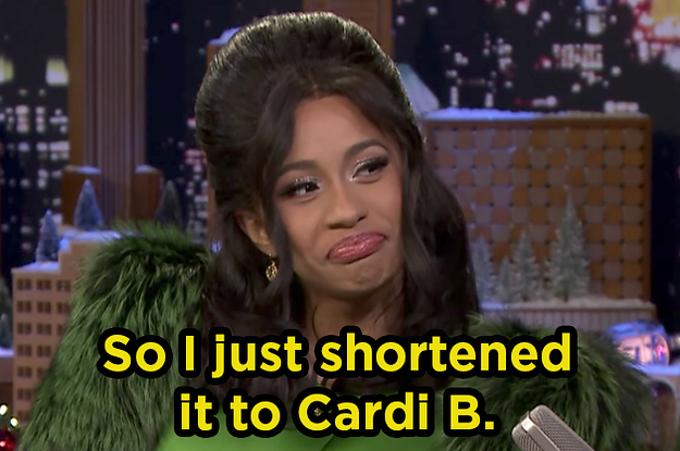 Cardi B Left Jimmy Fallon Speechless And Explained How Her Name Came     Cardi B Left Jimmy Fallon Speechless And Explained How Her Name Came To Be