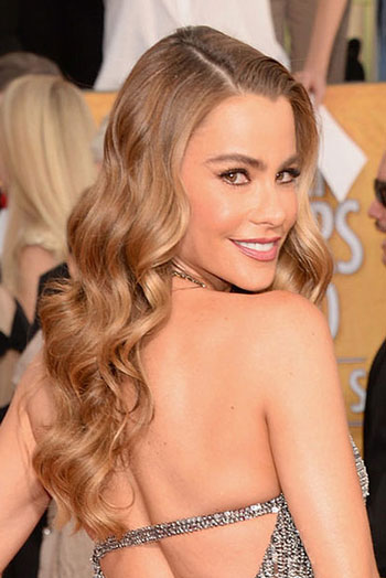 Sofia Vergara's Long Wavy Hairstyle at the 2014 SAG Awards of 1 by Christina