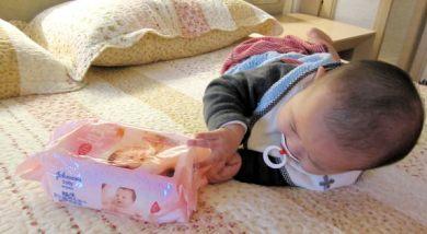 招待文。嬌生嬰兒護膚濕紙巾_真的不賴耶!