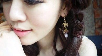 沒耳洞女孩的耳環