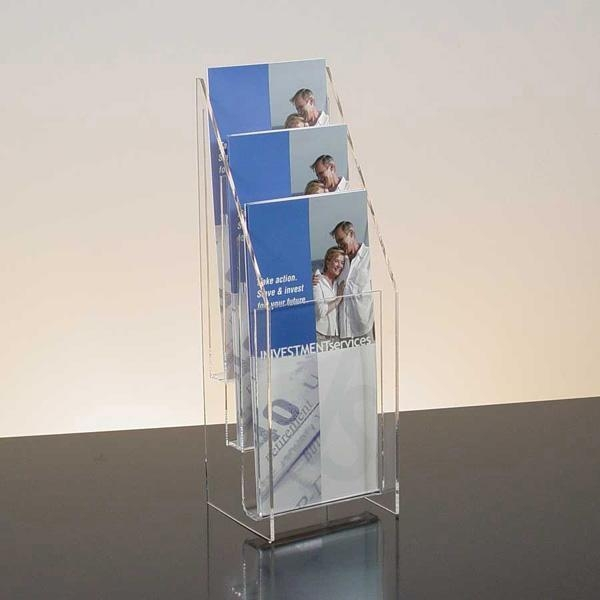Images of Acrylic Brochure Holder Clear 8 5 W x 11 H Slatwall     Acrylic Brochure Holder A4 acrylic brochure holder