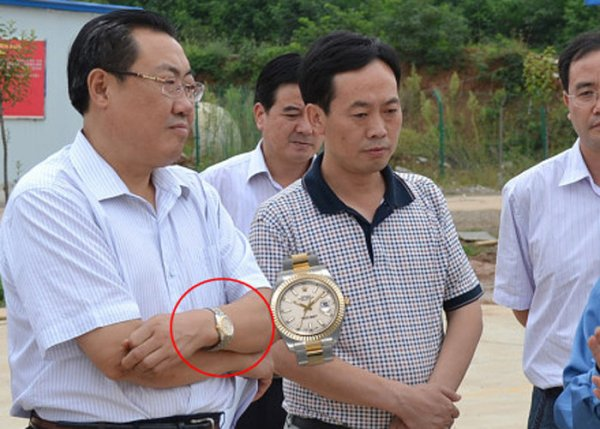 Yang Dacai and his watch.