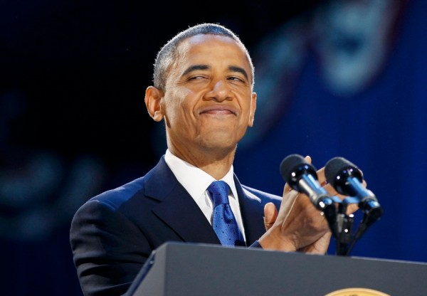 Barack Obama re-elected for a second term as President of the United States of America in 2012.