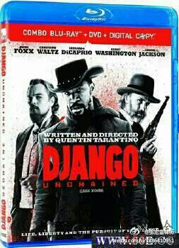 Blue-ray cover of Django Unchained.