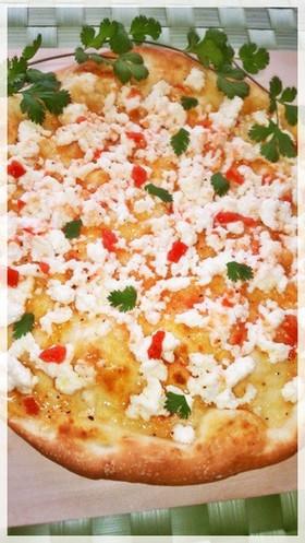 塩トマト&リコッタチーズdeハニーピザ