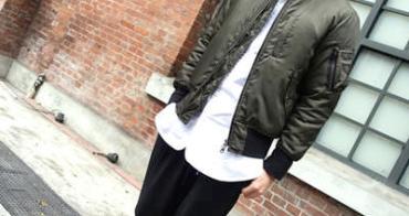 plain-me立領純白風格長版襯衫+MA-1飛行夾克