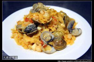 [西餐]麵食類  海膽蛤蜊蕃茄寬麵