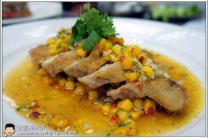 [西餐]雞肉類 黃金芒果沙沙烤嫩雞