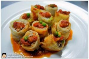 [西餐]蔬菜類 蕃茄燴高麗菜肉捲