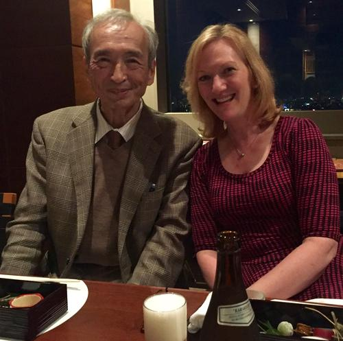 Masayoshi Esashi and Karen Lightman during a recent trip to Japan.
