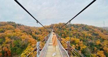 大阪 星田園地「星之鞦韆」- 關西大阪賞楓超秘境,紅葉圍繞的夢幻大吊橋