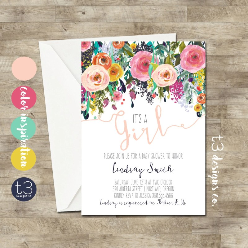 Large Of Baby Shower Invitations Girl