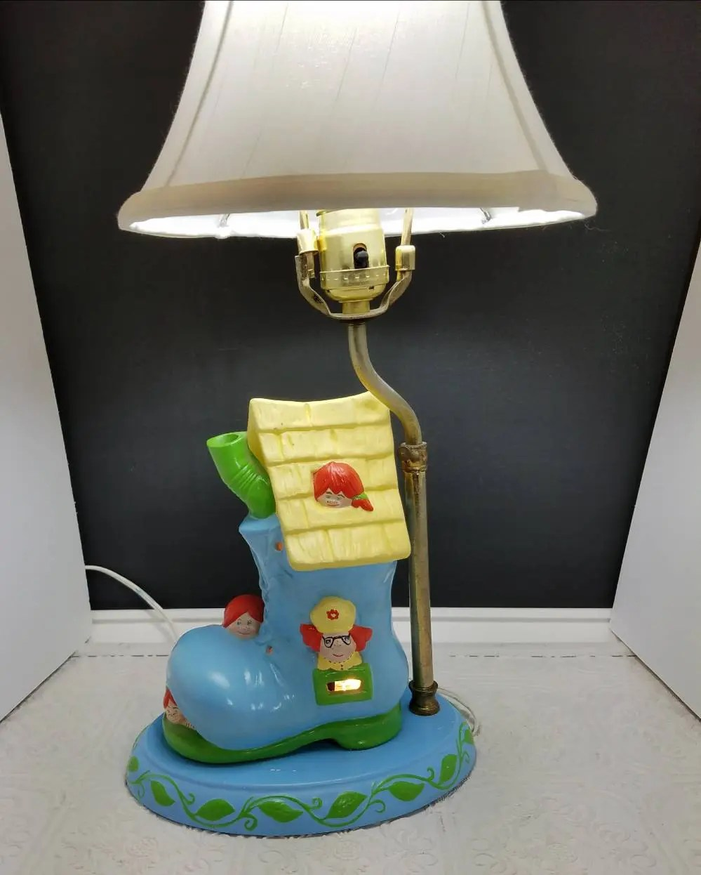 Vintage Nursery Lamp Nursery Rhyme Lamp Old Woman Shoe