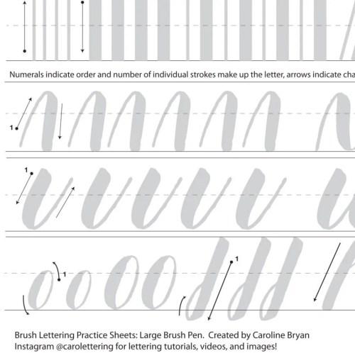 Medium Of Modern Calligraphy Practice Sheets