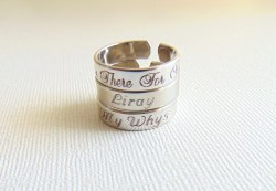 Small Of Name Engraved Ring