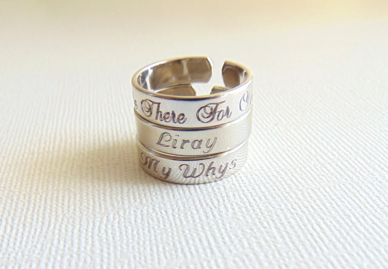 Large Of Name Engraved Ring