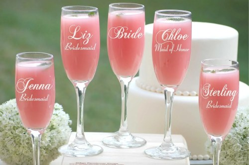 Medium Of Personalized Champagne Flutes