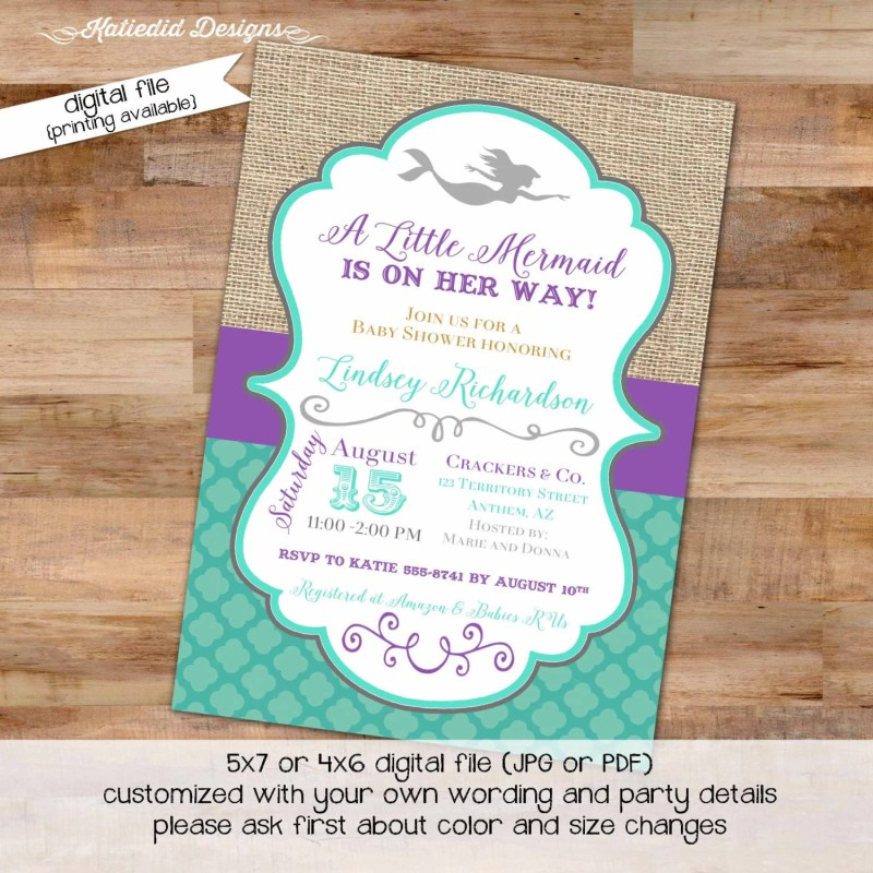 Large Of Under The Sea Invitations