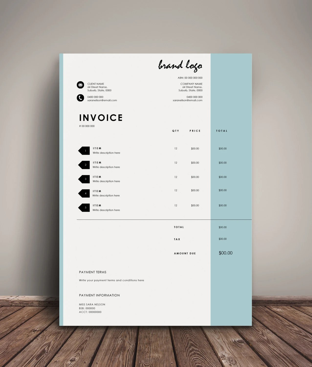 Free Printable Invoice Template Uk Invoice Example  Hotel Receipt     Invoice Template Receipt MS Word And Photoshop Template   Download free  invoice template for word online
