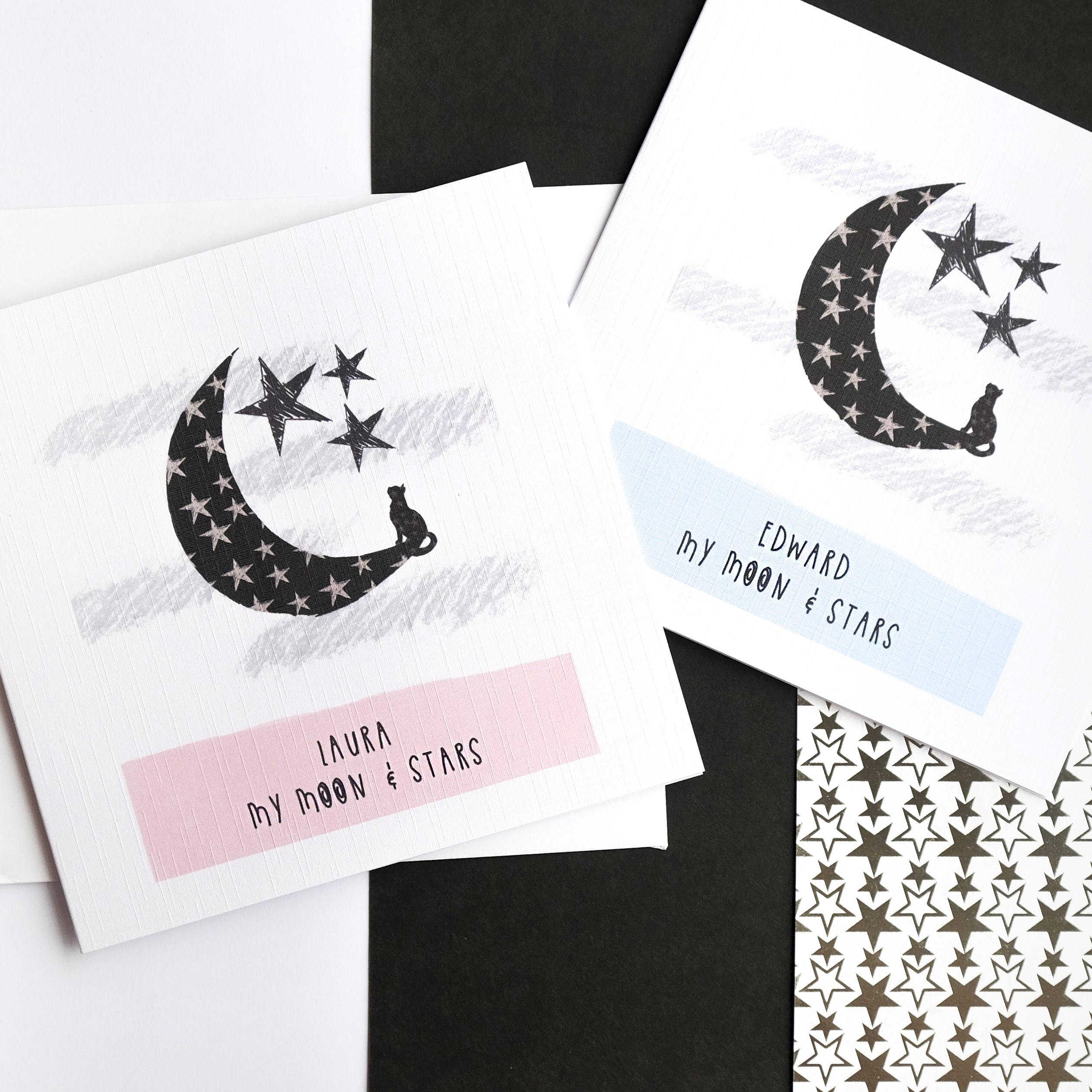 Considerable Personalised My Moon Anniversary Birthday Cat Moon Choose Name Personalised My Moon Anniversary Card My Moon Stars Stars My Sun Arabic My Moon inspiration My Moon And Stars