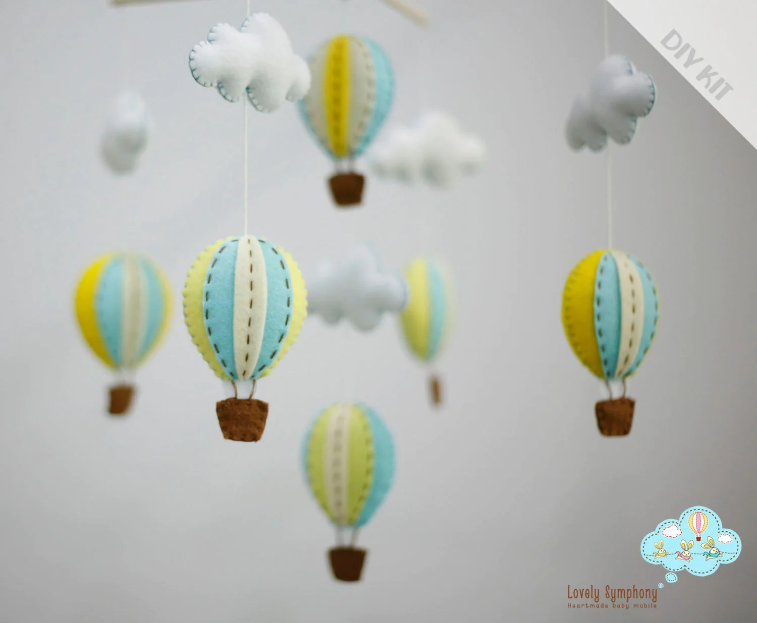 Admirable Diy Turquoise Yellow Baby Mobile Kit Diy Baby Crib Mobile Diy Baby Mobile Crib Attachment Diy Baby Mobile Arm inspiration Diy Baby Mobile