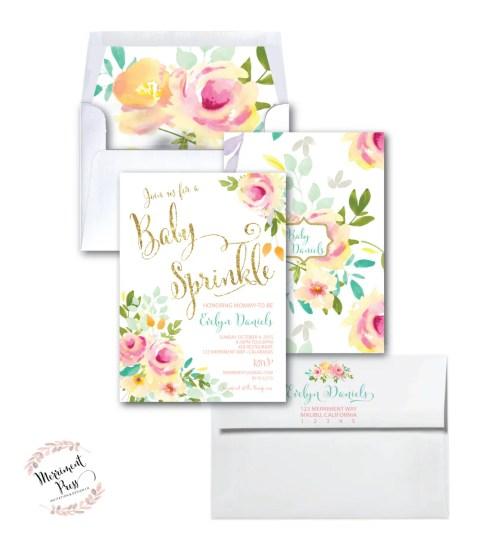Medium Of Baby Sprinkle Invitations