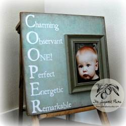 Small Crop Of Personalized Picture Frames