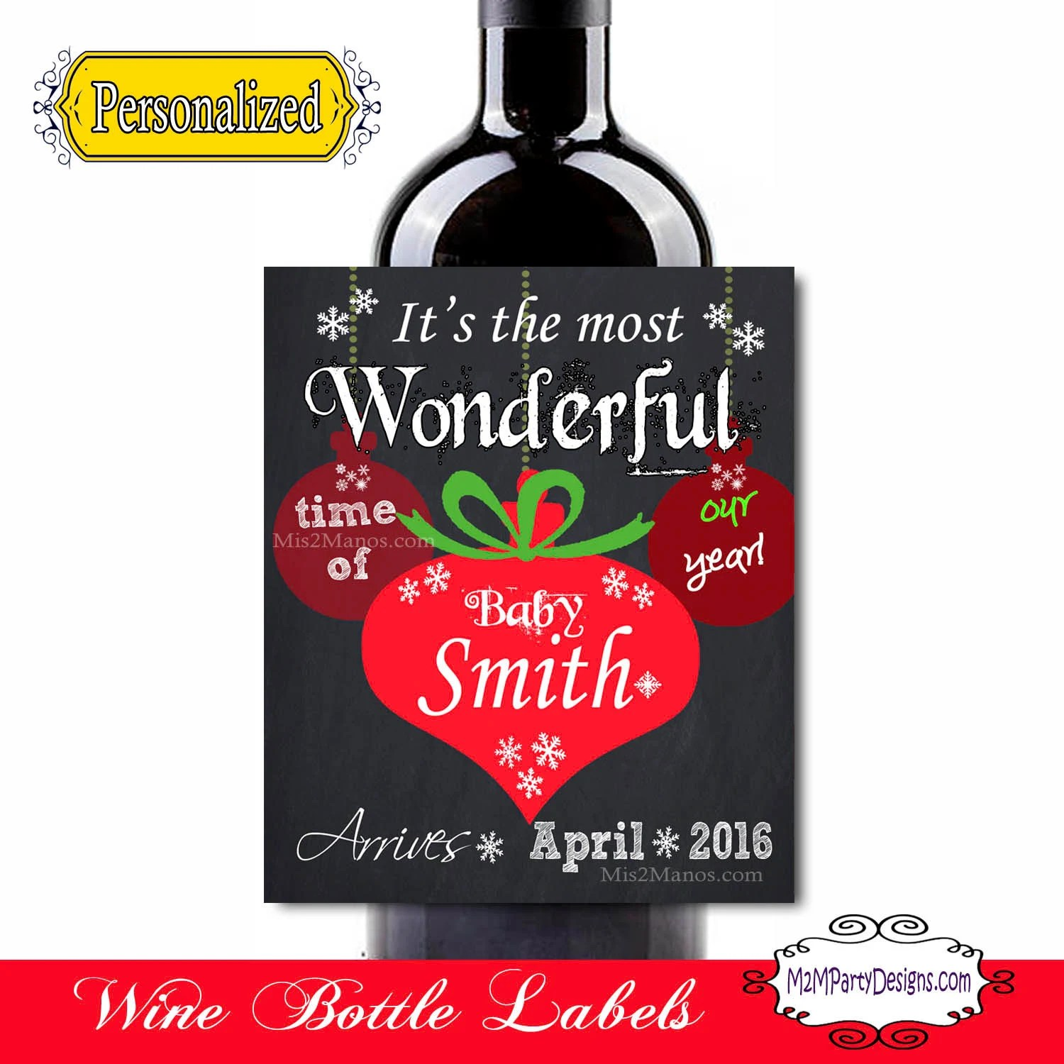 Artistic S By Pregnancy Announcement Wine Labels Holiday Pregnancy Pregnancy Announcement Card Pregnancy Announcement Ideas photos Christmas Pregnancy Announcement