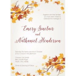 Small Crop Of Fall Wedding Invitations